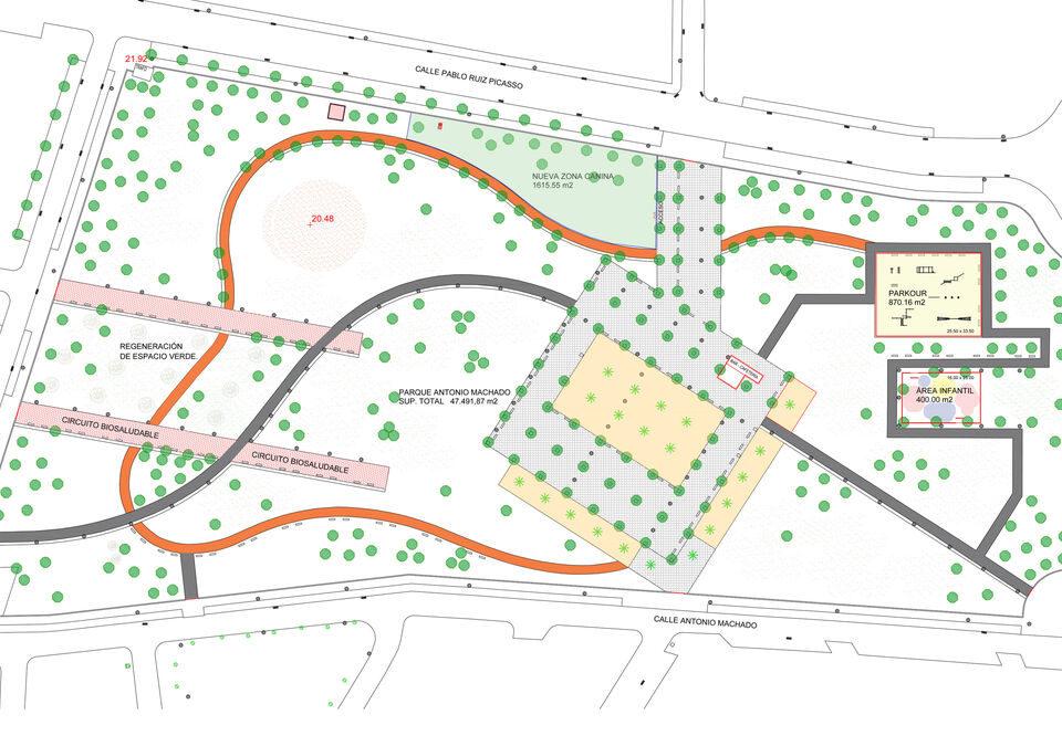 plano parque Antonio Machado